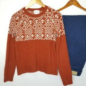 Olive & Oak Crew Neck Sweater, Burnt Orange Small